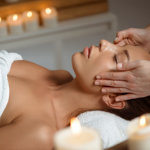Photo massage du visage par anne-deschamps-naturopathe-angers-massage